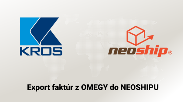 Export faktúr z OMEGY do NEOSHIPU